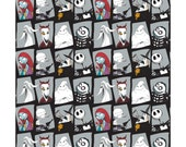 Camelot, Disney, Nightmare Before Christmas Characters in panes, 1 yard