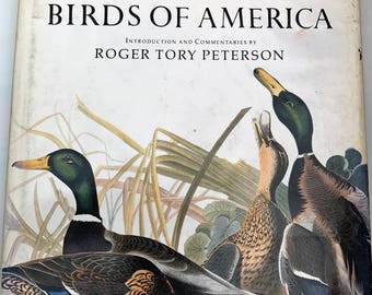 Favorite Audubon Birds of America Vintage Book of America Color Plates