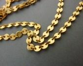 3 FT Brass Coin Chain Matte Gold
