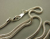 Complete Silver Snake Chain Necklace - Vintage 36 in