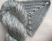 Silk Yarn - Hand Dyed worsted - Shade: Silver