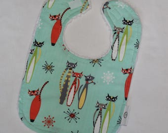 Atomic Tabby Chenille Boutique Bib