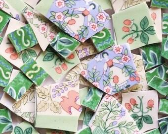 Mosaic Tiles--In the Garden- Custom Mix- 70 Tiles