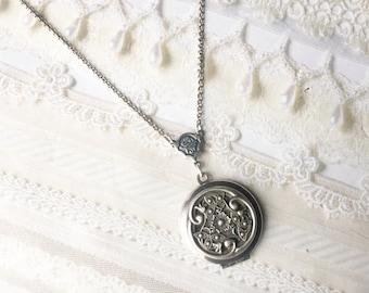Silver Celtic Knot Locket Necklace - The ORIGINAL Silver CELTIC LOCKET  - Jewelry by BirdzNbeez -  Wedding Birthday Bridesmaids Gift