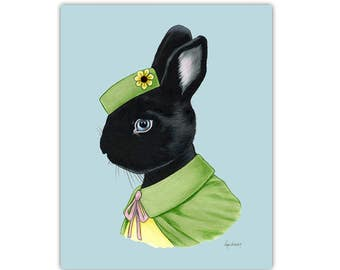 Black Rabbit art print by Ryan Berkley 11x14