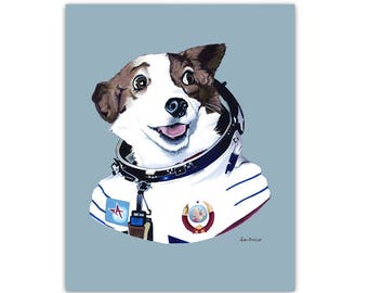 Strelka The Space Dog print 8x10