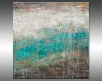 Lithosphere 176 - Original Abstract Painting, Art Abstract Painting Large Wall Art Textured Painting Canvas Art Industrial Rustic Modern Art