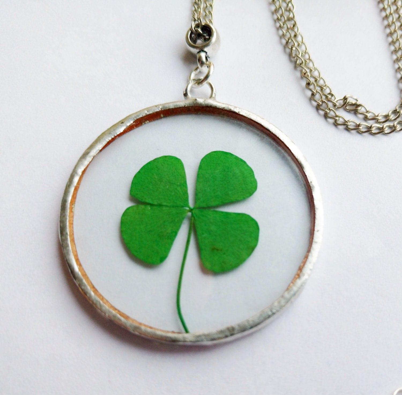 four leaf clover necklace real four leaf clover st