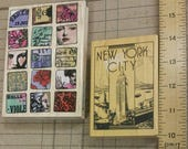 PARIS travel New York City art journal supplies. set of 2 rubber stamps. wood mounted. create tags. cards. collage. planner. Europe. faces
