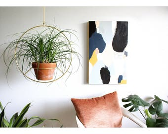 RESERVED for Dian - Brass Hanging Planter, Metal Plant Hanger, Modern Planter, Mid Century Plant Holder, Minimalist Planter, Boho Home