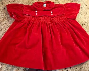 Red Velvet Dress 9/12 Months