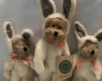 """Boyds """"Watson and Two Chans"""" Collectible Teddy Bears"""