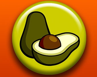 Avocado - Button / Magnet / Bottle Opener / Pocket Mirror / Keychain  - Sick On Sin