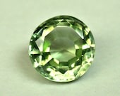 Vintage PERIDOT NORWAY Faceted GEMSTONE Round 5.5mm 0.77cts fg236