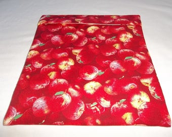 Large, Microwave Potato Bag, Apples Red, Baked Potato Bag, Potato Bag, Apple Potato Bag, All Cotton, Handmade, Kitchen Utensil, Gift