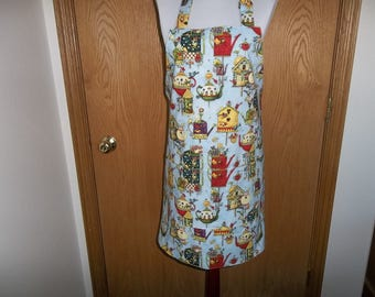 Bird House Apron Women's Full Apron Chefs Apron Cooking Apron Reversible Apron Front Pocket Adjustable Neck Strap Handmade Gift