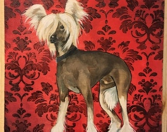 The Chinese Crested Dog - Medium Puppy Painting