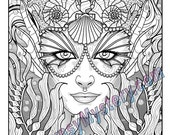 Single Coloring Page - Siren from the Magical Beauties Collection - Download, Print & Color!