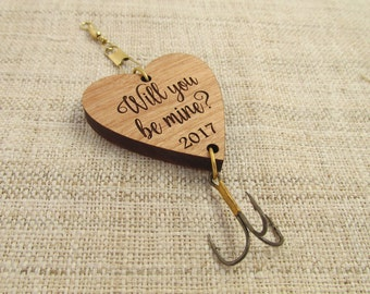 Valentine's Day Fishing Lure - Will You Be Mine Valentine's Day Gift - Fishing Hook for Husband, Boyfriend, Daddy, Grandpa