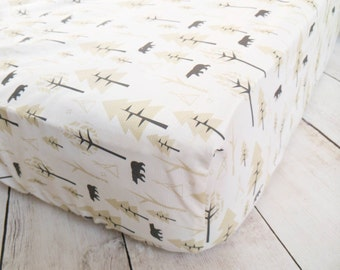 Bears Fitted Crib Sheet