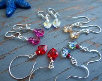 Love beads gorgeous sparkling swarovski earrings