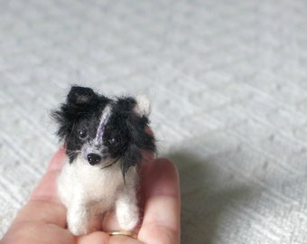 Your dog as a cute Pin Gourmet Felted / Custom  Needle Felted Miniature Pet Portrait / Sculpture Brooch /Dollhouse Pet
