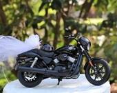Motorcycle Cake Topper, Harley Davidson 2015 Street 750, Motorcycle Birthday Cake TopperWedding Cake Topper, Harley Cake Topper