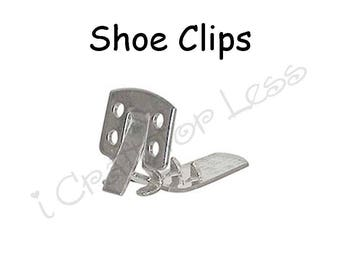 Shoe Clips Blanks Square - 2 (1 pair) - SEE COUPON