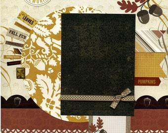 Autumn Memories - 12x12 Premade Scrapbook Page
