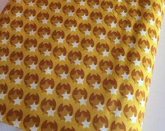 Hello Love fabric, Star fabric, Bright Quilt fabric, Baby Quilt fabric, Crib Bedding fabric, Pop Star in Yellow, Choose your cut