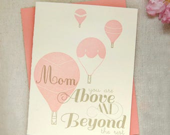 Above and Beyond Mom Mother's Day Card