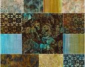 "Robert Kaufman Santa Fe Trail Batiks Ten Squares 10"" Precut Fabric Quilting Cotton Layer Cake TEN-516-42"