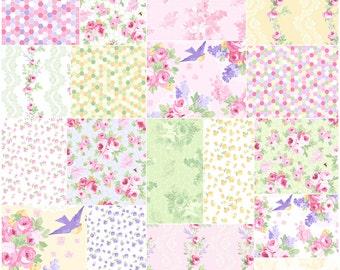 "SQ20 Paula Arndt FIDELIA Precut 5"" Charm Pack Fabric Quilting Cotton Squares Clothworks"