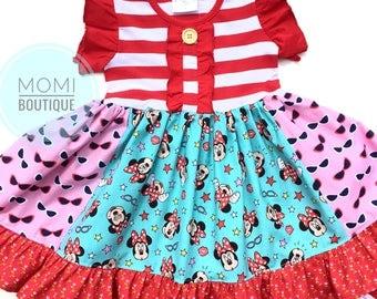 Minnie Mouse dress Disney dress Momi boutique custom dress