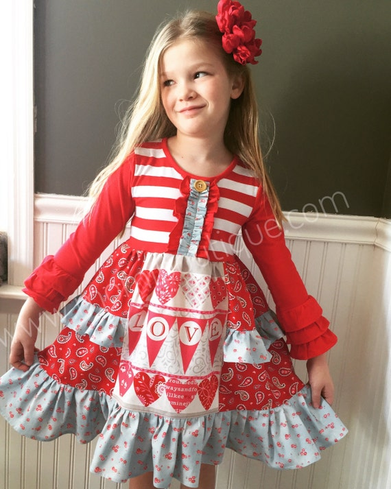 Girls Valentine's Day dress