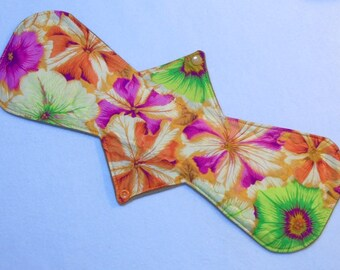 "16"" Heavy - Lg Bright Floral - Reusable Cloth Menstrual Pad (16HC)"