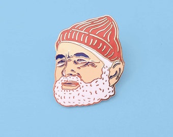 Lapel Pin Bill Murray as Steve Zissou