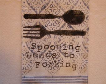 Spooning Kitchen Towel