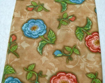 Vintage Cotton Fabric Remnant Scratch Floral Susan Winget