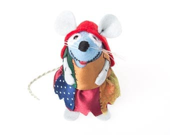 Sally Mouse - Nightmare Before Christmas inspired halloween collectable art rat artists mice cute soft sculpture toy stuffed plush doll