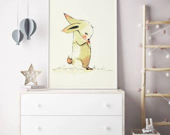 Bumbum so sorry, Woodland nursery decor, baby shower boy, Woodland nursery wall art, Woodland animal nursery, girls room decor