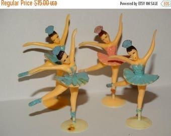 Vintage Ballerina Cake Toppers, Cup Cake Toppers, Dancers, Ballerina Classical ballet, Prima ballerina, Romantic Dancer