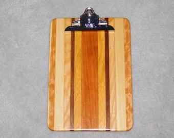 """Standard Size Wood Clipboard (9"""" x 13"""") - Ash, Cherry, Walnut & Poplar"""
