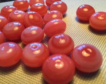 5 Stunning Watermelon Pink High Quality Glass Beads