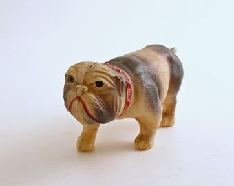 Vintage Celluloid Bulldog Figurine