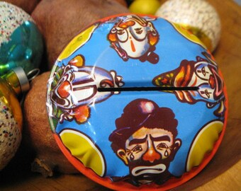 1960s U S Metal Toy Co. NEW YEARS Eve 4 Clown NOISEMAKER