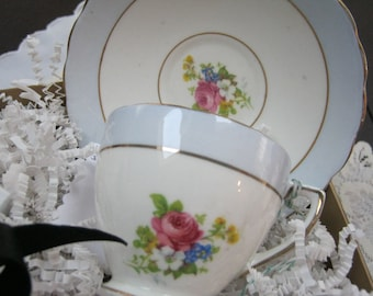 VINTAGE - Rosina Bone China Demi Cup and Saucer from England