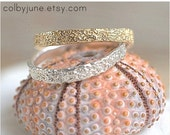 40% Off Black Friday Sale Sterling Silver Thin Coral Band  Stacking Ring   Nature Inspired Ring