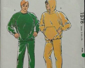 Kwik Sew Mens Jogging Suit Pattern 1978