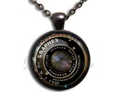 35% OFF - Camera Lens Vintage Glass Dome Pendant or with Chain Link Necklace VT108